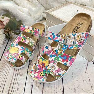 Floral spring happy boho summer sandals NEW